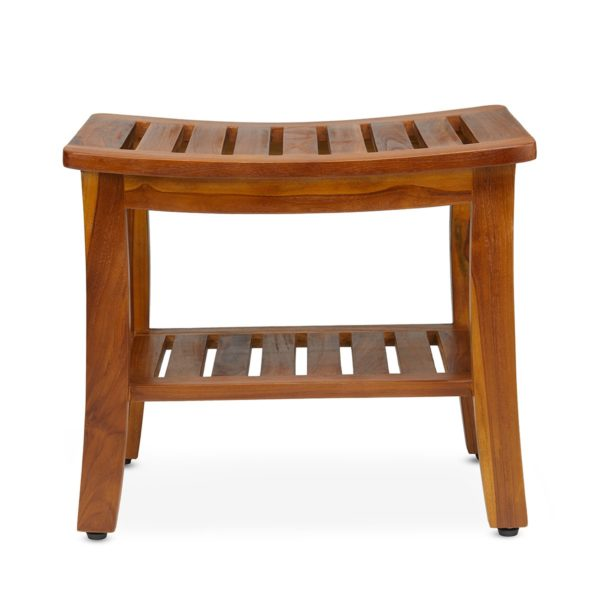 Contemporary Teak Shower Bench 21 Inch for Sale - TeakCraftUS