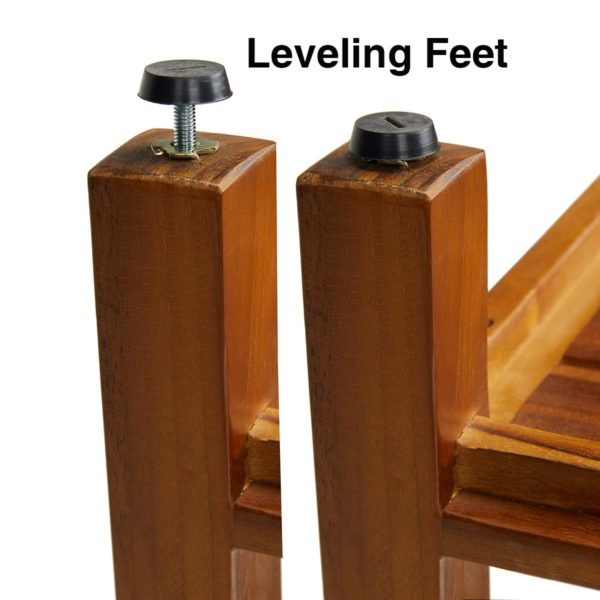 The LIV, Teak Shower Bench 30 inch