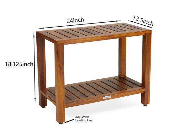 Buy The ESKE, Teak Shower Bench 24 Inch - TeakCraftUS