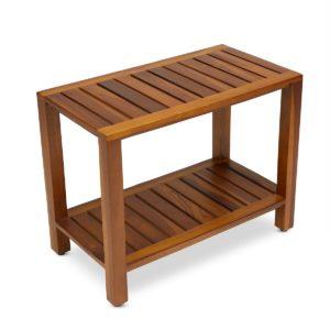 The ESKE teak shower bench for Home & Spa - TeakCraftUS