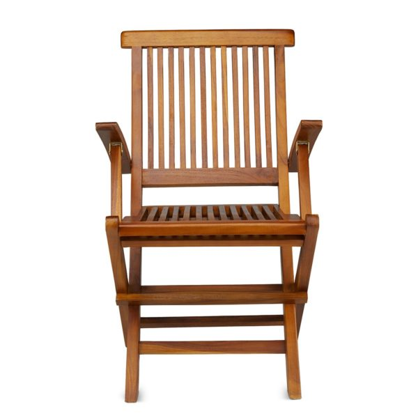 Classic Teak Folding Arm Chair - TeakCraftUS