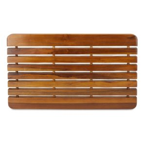 "Online The TROY, Teak Shower Mat 23"" - TeakCraftUS"