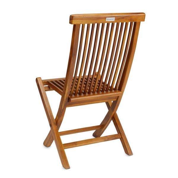 Contemporary Teak Wood Folding Chair - TeakCraftUS