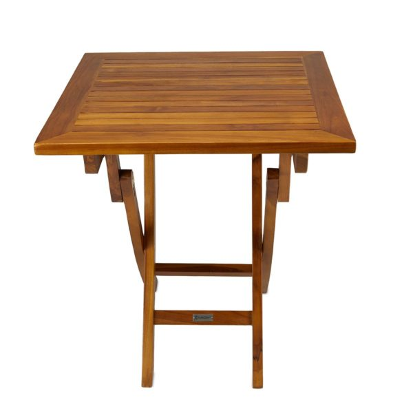 teak folding table for patios and yachts - TeakCraftUS