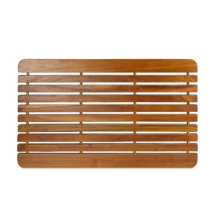 "Wooden Teak Shower Mat 30"" for Inside Shower"
