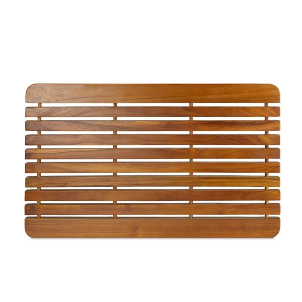 """Wooden Teak Shower Mat 30"""" for Inside Shower"""