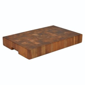 End Grain Teak Butcher Block, Extra-THICK for Sale - TeakCraftUS
