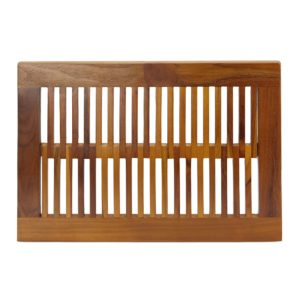 Buy Contemporary Teak Shower Mat 23 Inch Online - TeakCraftUS