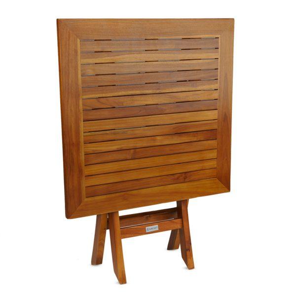 Square Teak Wood Folding Table Online - TeakCraftUS