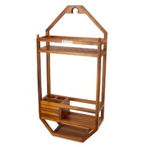 teak shower caddy for inside a shower - TeakCraftUS