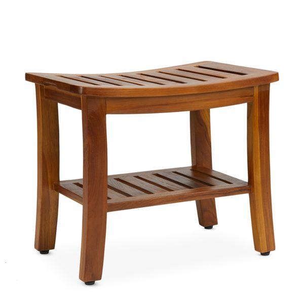 Buy Teak Shower Bench 21 Inch Online - TeakCraftUS