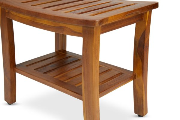 Modern Teak Shower Bench 21 Inch for Sale - TeakCraftUS