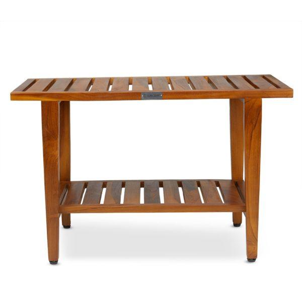Contemporary Teak Wood Shower Bench 30 Inch for Sale - TeakCraftUS