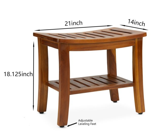 Buy The HERMOD, Teak Shower Bench 21 Inch - TeakCraftUS