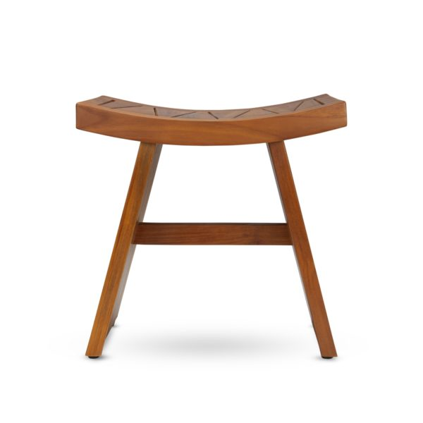 Modern Contemporary Teak Wood Shower Bench - TeakCraftUS