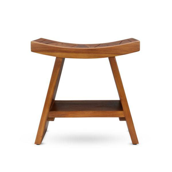 Contemporary Teak Wood Shower Bench 18 Inch - TeakCraftUS