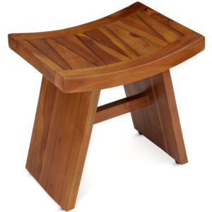 Teak Wood Shower Bench for Bath & Spa - TeakCraftUS
