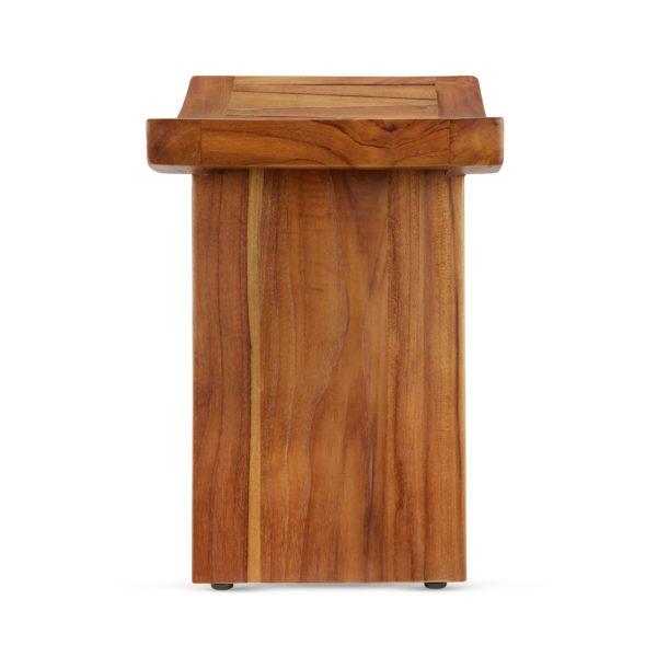 Buy Teak Wood Shower Bench 18 Inch Online - TeakCraftUS