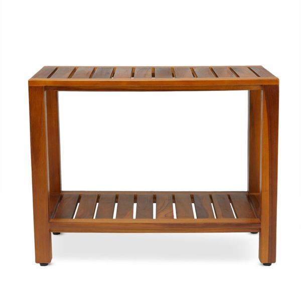 Modern Teak Shower Bench 24 Inch for Sale - TeakCraftUS