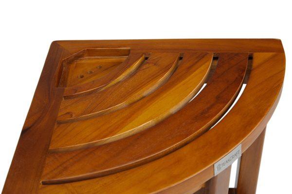 Buy The LOKI, Teak Corner Bench With Basket Online - TeakCraftUS