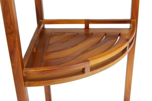 Buy The OM, Teak 3 Tier Corner Shelf Online -TeakCraftUS