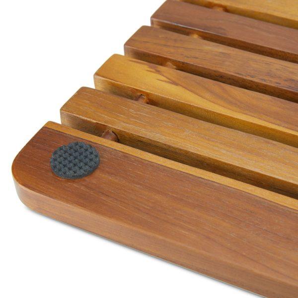 Wooden Teak Shower Mat 23 Inch for Inside Shower - TeakCraftUS