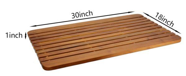 Large 30 Inch Teak Shower Mat for sale - TeakCraftUS
