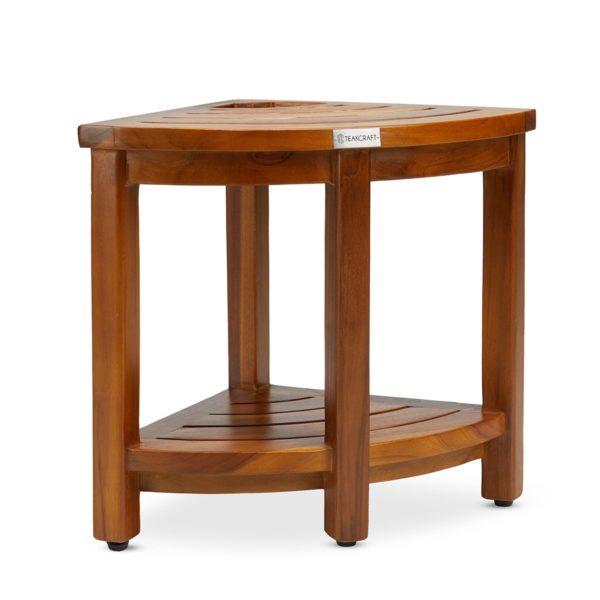 Best Quality The LOKI, Teak Corner Bench With Basket - TeakCraftUS