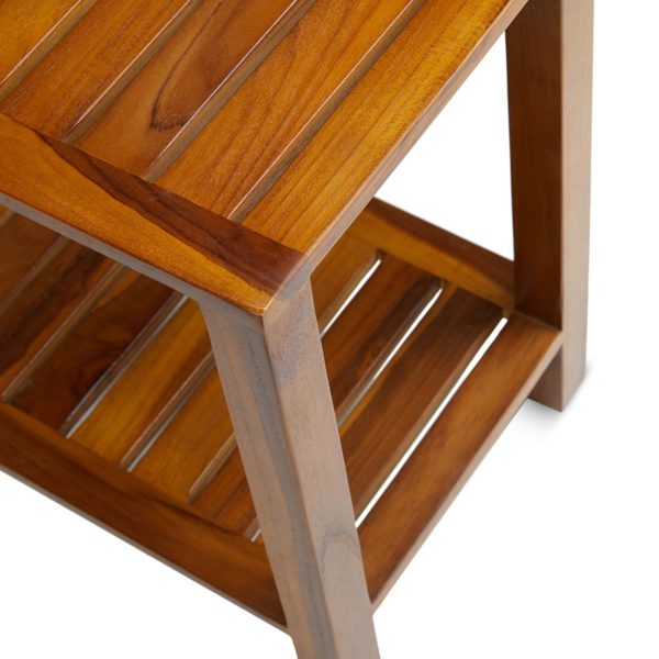 Buy Teak Shower Bench 24 Inch Online - TeakCraftUS