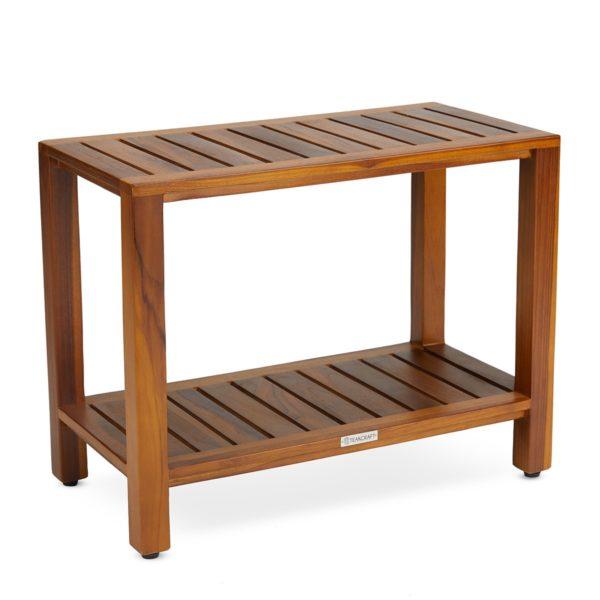 Handcrafted Teak Shower Bench 24 Inch Online - TeakCraftUS