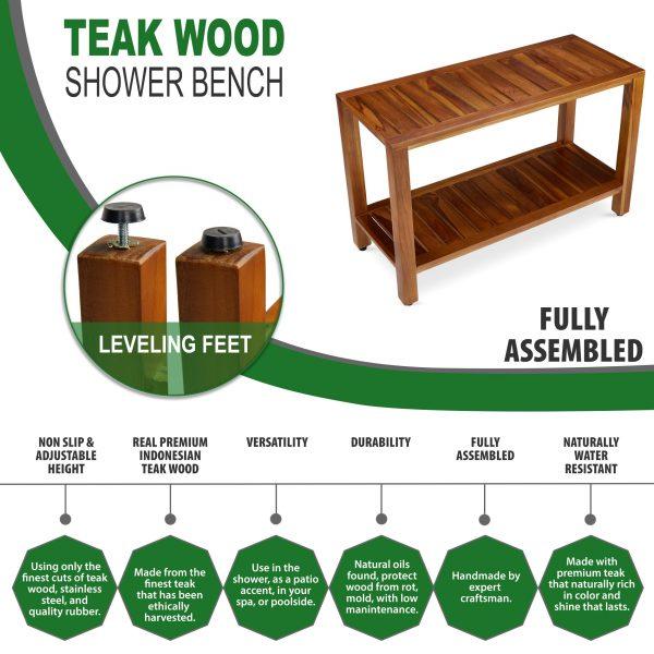Teak Wood Shower Bench Online - TeakCraftUS