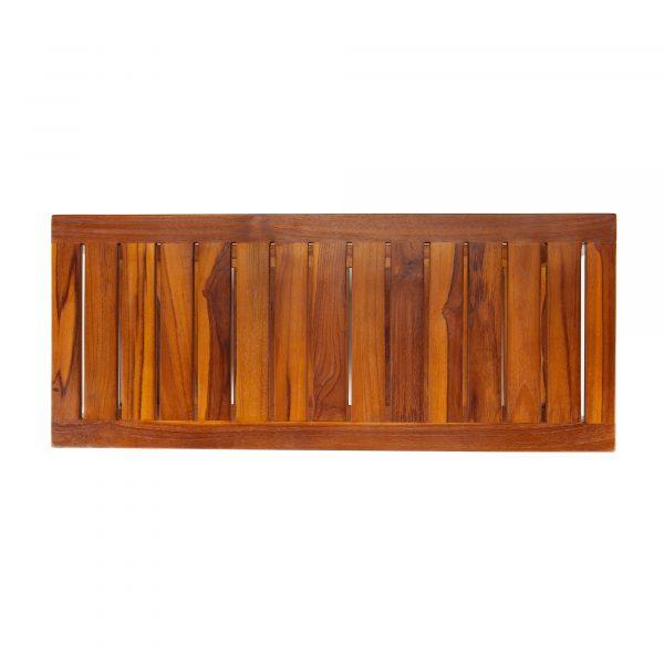 The FREYA, Teak Shower Bench with Shelf 30 Inch