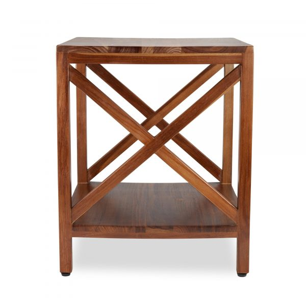 Frigg - Teak Squar End Table With Self
