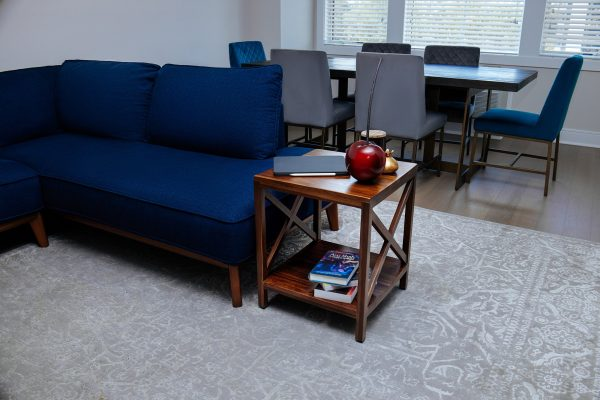 The Frigg - Teak Squar End Table With Self