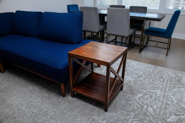 Teak Squar End Table With Self